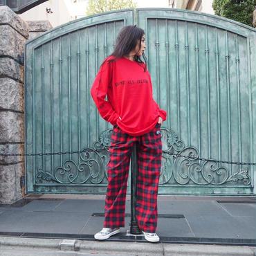 ViiDAチェックパンツ(RED)