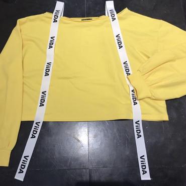 ViiDAオフショルスウェット(yellow)