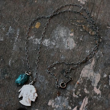 Cut-Out Indian Head Coin Necklace