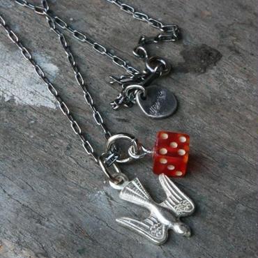 Vintage Bakelite Dice and Dove Necklace