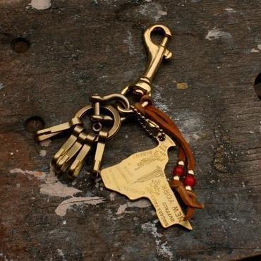 Brass New York Keychain