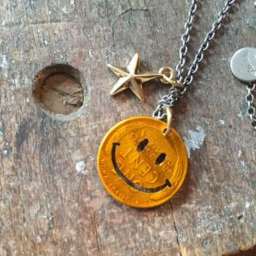 Smiley Wheat Penny Necklace