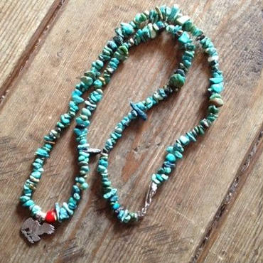 Turquoise necklace + Eagle Coin Cutout