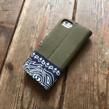 Bandanna x O.D. Green  iPhone6/6s, 7& 8 Case, Navy