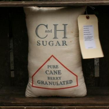 Vintage C&H Sugar Bag Pillow