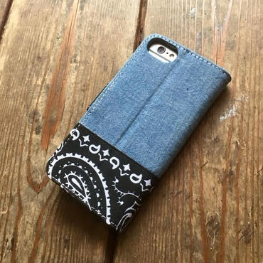 Bandanna/Chambray  iPhone 6/6S, 7 & 8 Case, Black