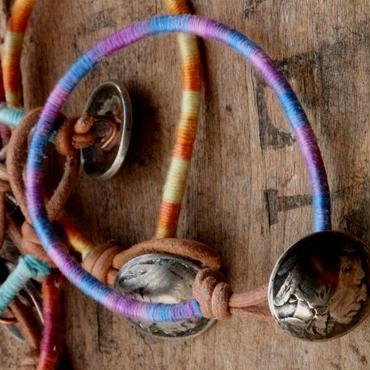 Old Concho Tie Die Bracelet