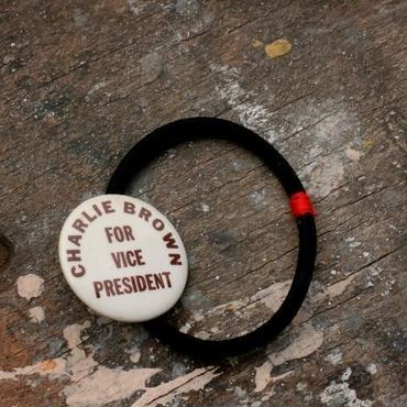 """Message Pin Hair Elastic """"CB for Vice President"""""""