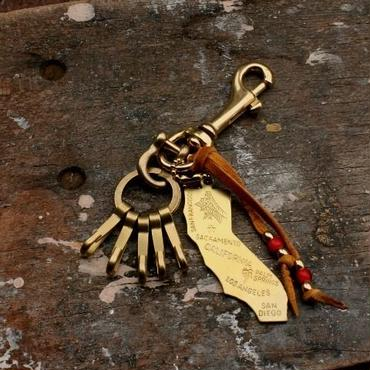 Brass California Keychain