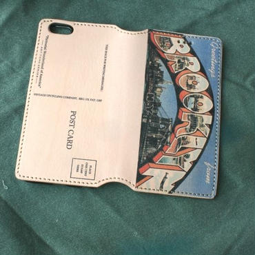 """Pictorial Wonderland of America"" iPhone6/6s Leather Case, Brooklyn"
