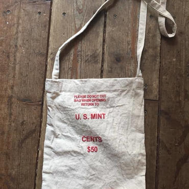 "US Mint Shoulder Bag, Red ""Cents"""