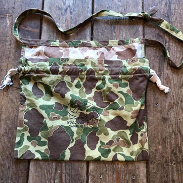 "Red Cross Bag, 1940s USMC Duck Hunter Camo, ""Good Job Charlie"""