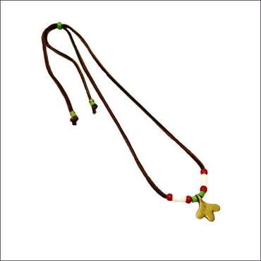 真鍮トップ 鹿革ヒモ チョーカー ネックレス 10006792