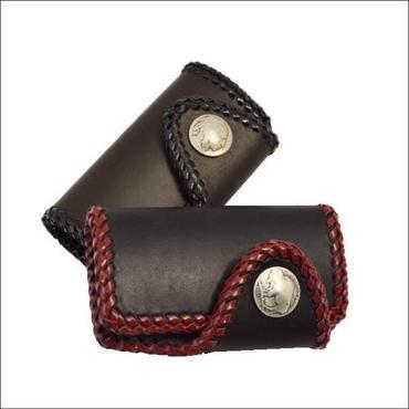 牛革(レザー) 2つ折りキーケース! オリジナルハンドメイド  10005386