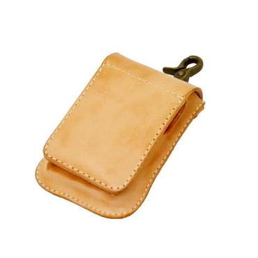 レザー(牛革)たばこケース(シガレットケース) 携帯灰皿付き 焦がしレザー ヌメ革 10005765