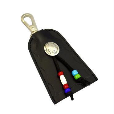 レザーキーホルダー コンチョ付き 日本製 ハンドメイド 10007207