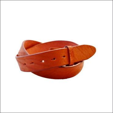 ベルト メンズ 本革 バックル付け替え用 無地ショルダーレザー1枚革ベルト レッド ロングサイズ 10005183