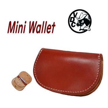 財布 メンズ レディース ミニ財布 コンパクトウォレット 折り財布 牛革 RED 18122902