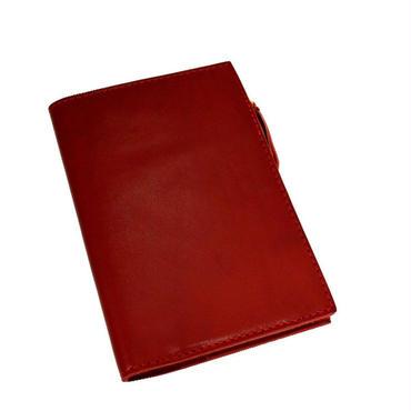 レザー システム ノートカバー ノート付き RED  10007254