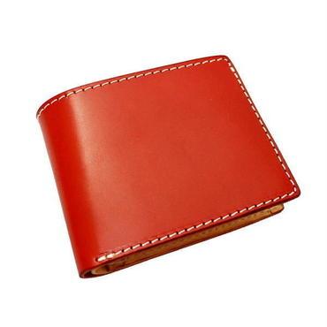 レザーウォレット 二つ折財布 レッド 10006811