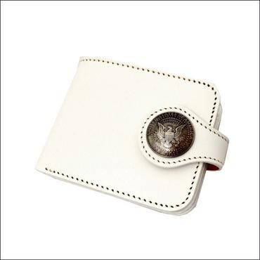 PINEHILLS 二つ折り レザーウォレット 牛革 財布 札入れ WHITE 10006741