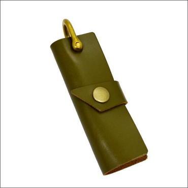 レザー キーケース 牛革キーケース オリジナルハンドメイド KHAKI 10007682