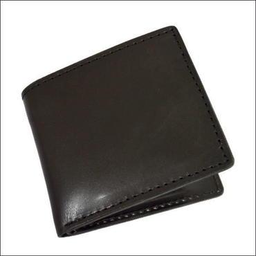 レザーウォレット(二つ折財布) オイルレザー ブラック 小銭入れなし財布 10007704