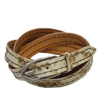 蛇革 ブレス 3重巻き メンズ レディース パイソン レザーブレス 19020501