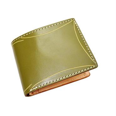 カービングクラフト レザーウォレット(二つ折財布) カーキ カービング 10006813