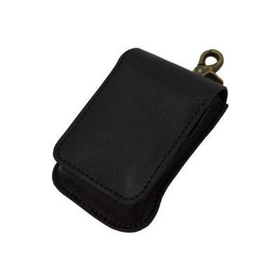 レザー(牛革)たばこケース(シガレットケース) 携帯灰皿付きブラックC 10004792