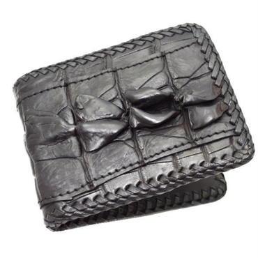 クロコダイル カイマンワニ ウォレット 二つ折財布 10006803