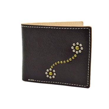 フラワースタッズ レザー ウォレット(二つ折財布) 10005495