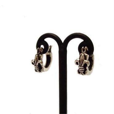 ユリ紋章 フープ SILVER 両耳ピアス 10003997