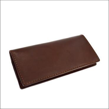 オイル レザーウォレット 財布 メンズ 長財布 レザー ロングウォレット 薄マチ札入れ BROWN 10007709