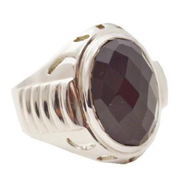 オニキス 指輪 シルバー925 オニキス楕円B リング 10002987