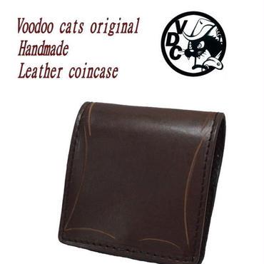 ボックス型 コインケース チョコ 革 18121601