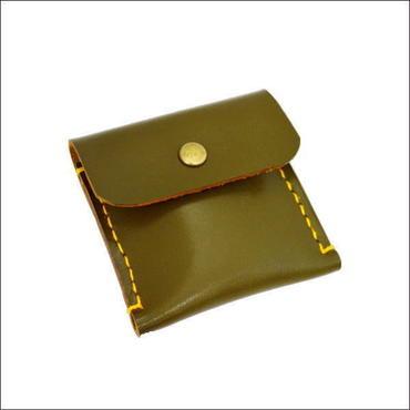 レザーコインケース カーキ 牛革 メンズ レディース ハンドクラフト 10007247
