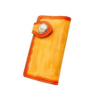 財布 メンズ 長財布 レザー スタンピングウォレット 2トーン レッド 10005023