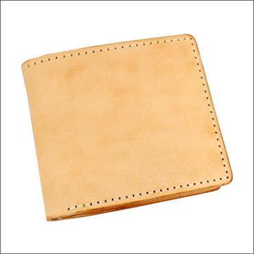 レザーウォレット(二つ折財布) 焦がし ヌメ革 小銭入れなし財布 L10007702
