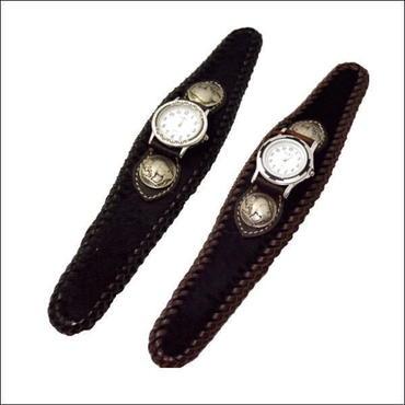 腕時計 メンズ サイズ 馬革ハラコ リストウォッチ ブレスウォッチ  10003863