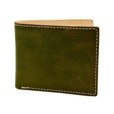 カービングクラフト レザーウォレット(二つ折財布) KHAKI 10005500