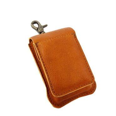 レザー(牛革) たばこケース(シガレットケース) 携帯灰皿付き LIGHT BROWN 10007780
