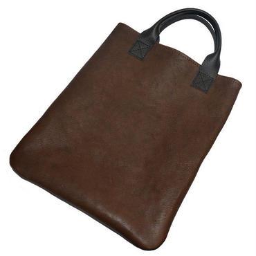 牛革トートバッグ メンズ レディース 本革書類バッグ A4ファイル対応 ダークブラウン 19031001