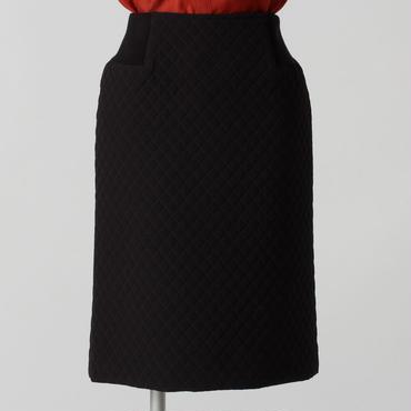 ブラックキルティングスカート