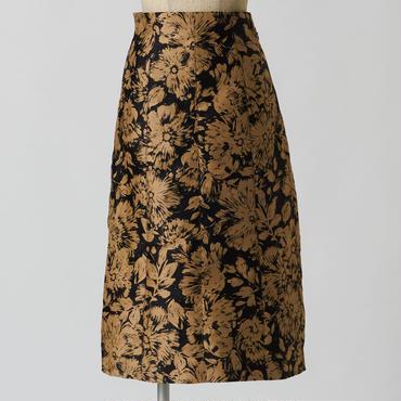 フローラルツイードスカート
