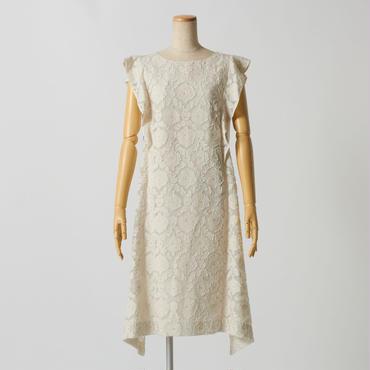フラワージャガードドレス(ホワイト)