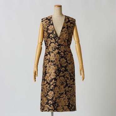 フローラルツイードドレス