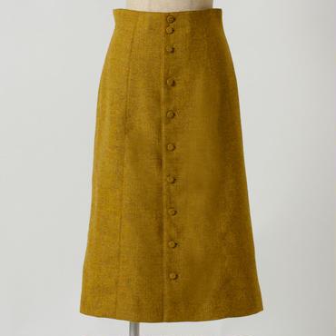 カラーツィードスカート