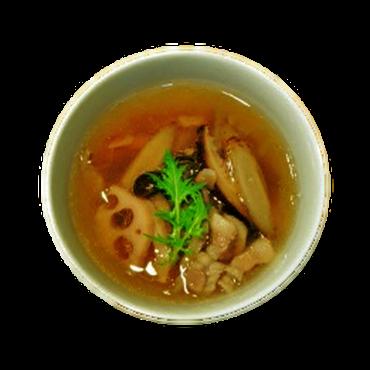 塩豚根菜茸スープ