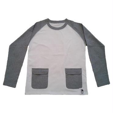 〔iPhone6が入る〕スマートポケット付きラグラン長袖Tシャツ